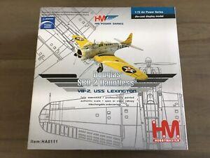Hobby Master HA0111 Douglas SBD-2 Dauntless VB-2 USS Lexington 1/72 New