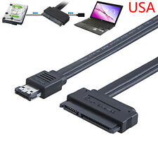 Dual Power eSATA USB 12V 5V Combo to 22Pin SATA USB Hard Disk Cable Adapter