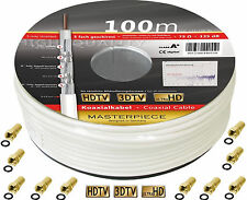 HD Sat Koaxial Kabel 100 m Meter 135 dB Klasse A+ Antennen TV Kabel 0,23€/m