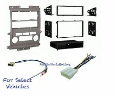 Grey Car Stereo Radio Dash Kit Combo for some 2009 2010 2011 2012 Nissan Xterra