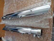 NOS Harley Davidson Exhaust Slipon Slash Cut 2000-2003 FXST FLSTC 5495035