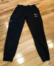 Nike Swoosh Joggers Black White Red CJ4869 010 Men's SMALL NWT