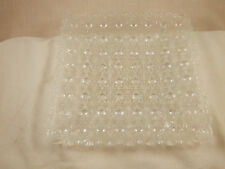Vintage Fenton Daisy & Button Glass Square Plate clear 7""