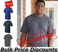 Hanes Mens Short Sleeve Cotton Beefy-T Tall Size T Shirt 518T up to 4XT