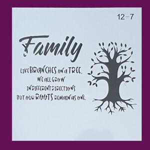 Schablonen Stencil Vintage Ornamente  Muster  Mandala Shabby Baum Familie A0210
