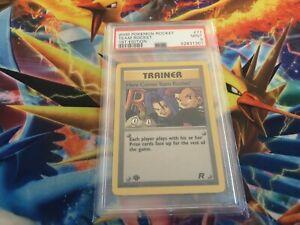 2000 1st Ed Here Comes Team Rocket Non-Holo Pokemon Card 71/82 Rocket PSA 9 MINT