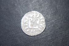 RARE SILVER PITOU ALPHONSE  DENIER CRUSADER  13th KNIGHTS TEMPLAR CROSS