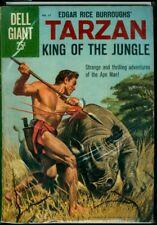 Dell GIANT Comics #37 Edgar Rice Burroughs' TARZAN King Of The Jungle VG+ 4.5