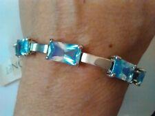 Monet Blue and Silver Tone Bracelet, 7 1/2 Inch Bracelet, GS1077