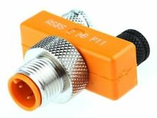 Belden Tee 3 Pole M12 Plug to 3 Pole M8 Socket Adapter, Nickel Plate, 33mm