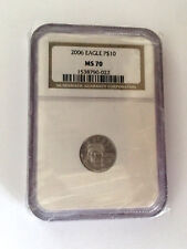 2006 Platinum Eagle $10 Perfect MS70 NGC Graded #153790-022