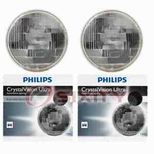 2 pc Philips High Low Beam Headlight Bulbs for Fiat 124 128 850 Strada X-1 9 fr