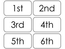 Ordinal Number Flashcards 1-20.  Preschool Math Numbers Flashcards. Position Wor