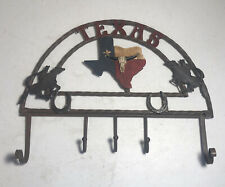 Texas Horseshoe Rustic Cowboy Hook Iron Decor Key Rack Western