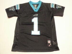 Cam Newton Carolina Panthers NFL Players Black and Blue Jersey Boys Small (8) #1