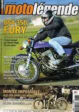 MOTO LEGENDE N0167 2008 BSA 350 FURY SUZUKI 50 TWIN YAMAHA 400 RD SUNBEAM S7 S8