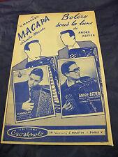Partition Macapa V Marceau Boléro dans la lune André Astier