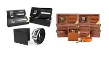 Umo Lorenzo Men's Leather Belt & Wallet Set