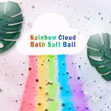 110G Rainbow Cloud Bath Bomb Salt Exfoliating Moisturizing Bubble Bath Ball.