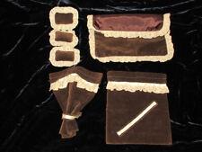 Vintage Dollhouse Miniature BEDROOM SET Quilt Pillows Curtains NeW HANDMADE