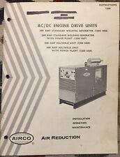 Airco Ac Dc 300 400 engine drive units manual