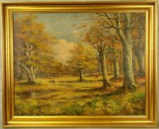 """otoño paisaje con corzos"" SIG. S. Thim???"