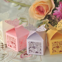 10/50/100 Butterfly Laser Cut Candy Gifts Boxes Favor Boxes Wedding Party Favors