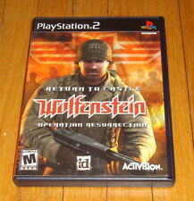 Return to Castle Wolfenstein Operation Resurrection Sony Playstation 2 Complete