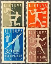 More details for lithuania. olympic fund. sg420/23. 1938. mnh. #ts677