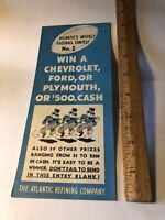 Rare Vintage 1936 ATLANTIC  REFINING COMPANY Football Contest No 2 Advertising