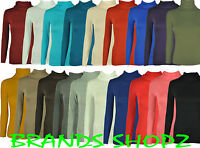 POLO LONG SLEEVE LADIES TURTLE POLO ROLL NECK TOP SHIRT CASUAL JUMPER 8 - 24/26