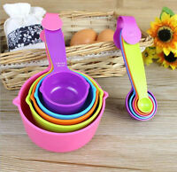 Plastic Measuring Cups Measuring Spoons Set Baking Teaspoon Kitchen Tools 5Pcs