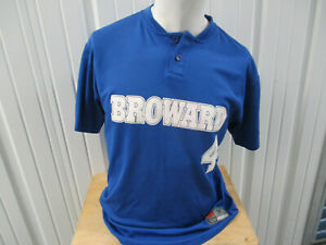 VINTAGE NIKE BROWARD COMMUNITY COLLEGE BCC SEAHAWKS SEWN MEDIUM SOCCER JERSEY