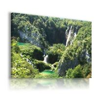 Republic of Croatia The Park Plitvice Lakes CANVAS WALL ART PICTURE C15 UNFRAMED