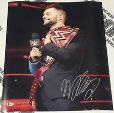 Finn Balor Signed 16x20 Photo Bas Beckett Coa Wwe Picture w/ Raw Universal Belt