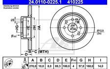 ATE Juego de 2 discos freno Trasero 270mm para OPEL VECTRA VAUX 24.0110-0225.1