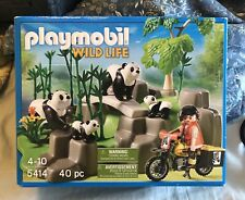 Playmobil 5414 Panda Researcher in the Bamboo Forest New in Box Sealed