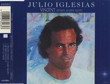 JULIO IGLESIAS VINCENT (STARRY STARRY NIGHT) 3 TRACK CD SINGLE