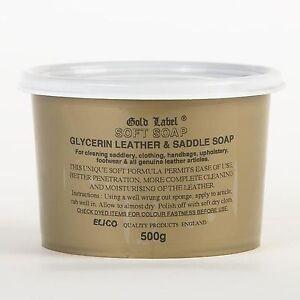 500g Gold Label Glycerin Leather & Saddle Soft Soap Tack Cleaner  FREE POST