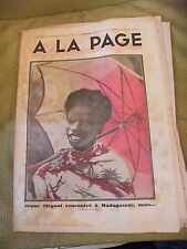 A la page No.91 December 1931 Young elegant to Madagascar