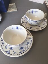 2 Furnivals Blue Denmark Cups And Saucers