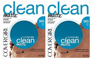 Set of 2 Covergirl Clean Matte Oil Control Pressed Powder 565 Tawny 10 g