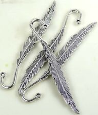 80mm Silver Pewter Banana Leaf Leaves Feather Bookmark (4)