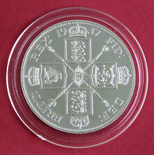 1937 GEORGE VI HALLMARKED SILVER PROOF PATTERN DOUBLE FLORIN