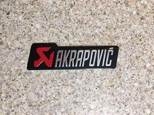 AKRAPOVIC Small Silver Aluminium Heat Resistant Sticker badge Decal 3D Exhaust