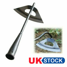 More details for uk stainless steel hollow hoe garden tool weeding rake planting vegetables home