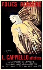 ORIGINAL Vintage Poster PANTOMIME DEBURAU Cappiello FOLIES BERGERE Paris PIERROT