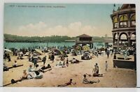 Santa Cruz California Bathing Beach Postcard G9
