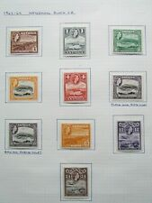 XL4630: Antigua Mint QEII Stamp Set (Wmk Block CA): SG149 to 158 Complete