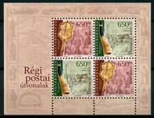 More details for hungary europa stamps 2020 mnh ancient postal routes services europa 4v m/s